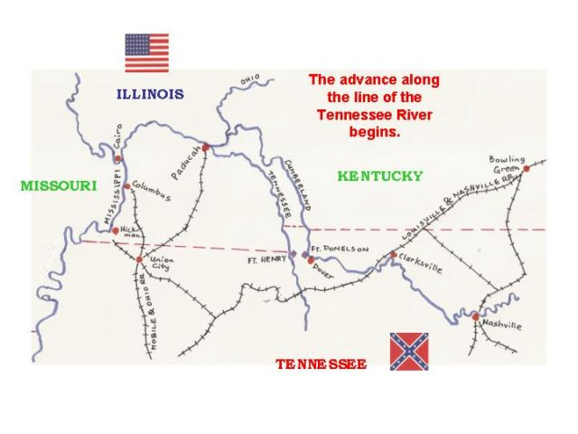 South African Military History Society Lectures Shiloh - Ft donelson river on us map