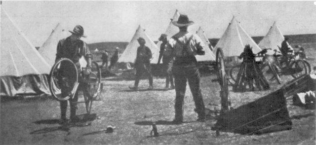 Repairs in camp