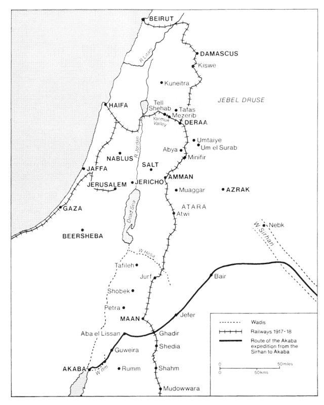 LAWRENCE OF ARABIA - THE DAMASCUS CAMPAIGN - South African ... on tyre map, beirut on a map, sanaa map, persia map, jordan map, constantinople map, aleppo map, euphrates river map, medina map, syria map, canaan map, mecca map, ankara map, sinai peninsula map, iraq map, muscat map, amman map, jerusalem map, libya map, belgrade map,