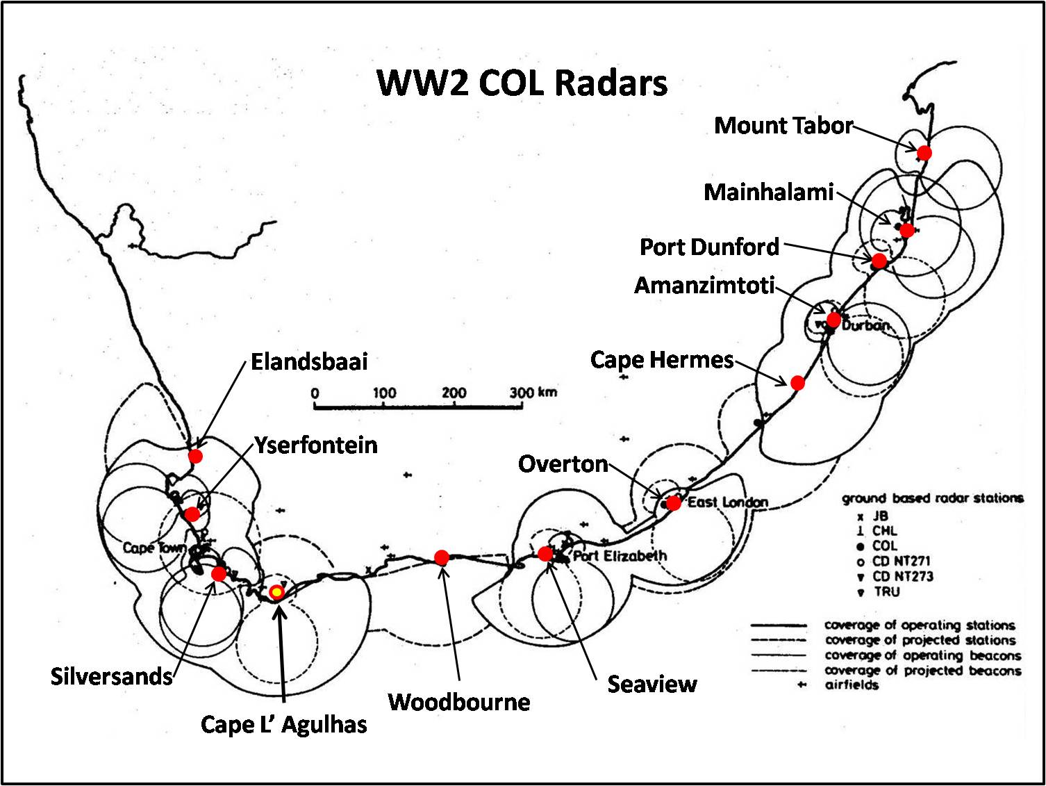 ww2 coastal radar station locations